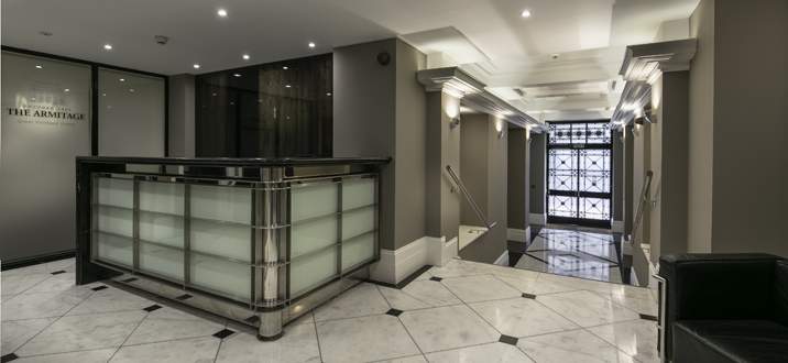 London Storage Vaults reception desk